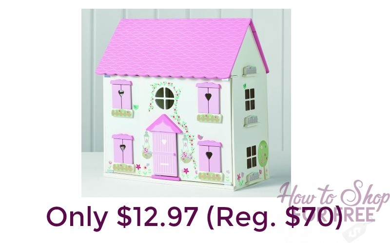 Hurry! Wooden Dollhouse Only $12.97 (Reg. $70)