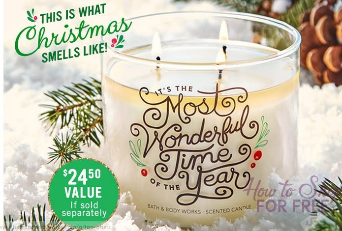 FREE Fresh Balsam 3 Wick Candle with ANY Purchase ($24.50 Value)!
