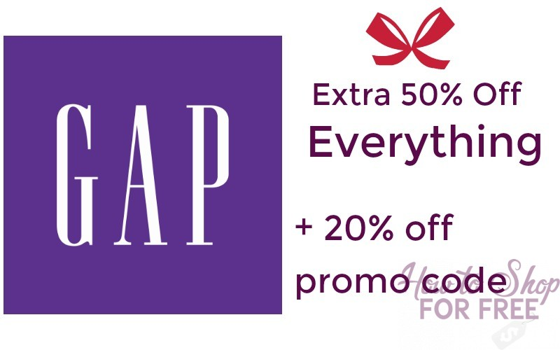Extra 50% Off + Additional 20% off with Coupon Code at GAP!