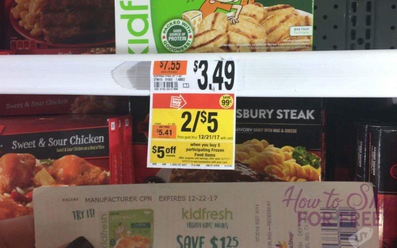 UPDATED! Kidfresh Frozen Meal FREE + $4 MONEYMAKER!!