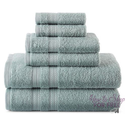 WOWZA! 6pc Towel Set ONLY $10.12 (Reg $48) at JC Penney!