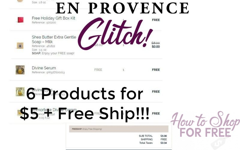 L'Occitane GLITCH! 6 Products + FREE GIFT BOX for $5 + FREE Ship!