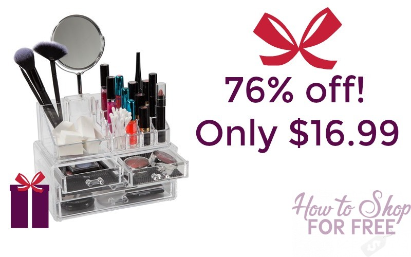 76% Off ClosetMate Luxury Acrylic Cosmetic Makeup Organizer!