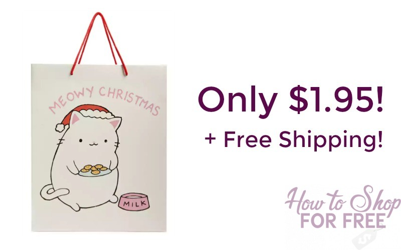 Meowy Christmas Gift Bag Set Only $1.95 Shipped!