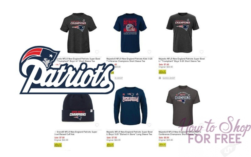 Authentic NFL New England Patriot's Championship gear up to 80% OFF!