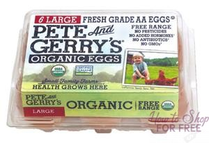 Pete & Gerry's Organic Eggs ONLY $1.00 at Shaw's 12/01 ~ 01/04!