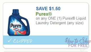 **HOT**New Printable Coupon** $1.50/1 Purex Liquid Laundry Detergent