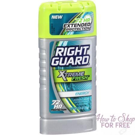 Right Guard Xtreme Or Aerosol Deodorant 50¢ Money Maker at Rite Aid 12/03 ~ 12/09