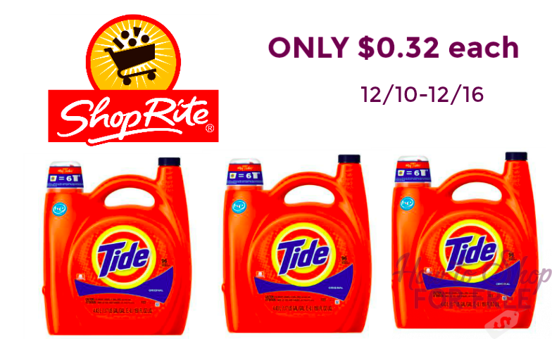 WHATTT!!!! HUGE Tide Bottles ONLY $0.32!!!!