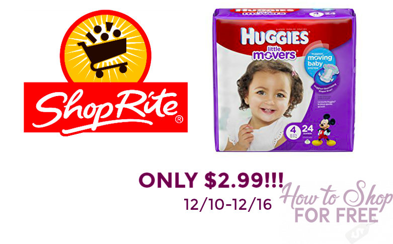 DIAPER DEAL!!! Huggies for $2.99!!