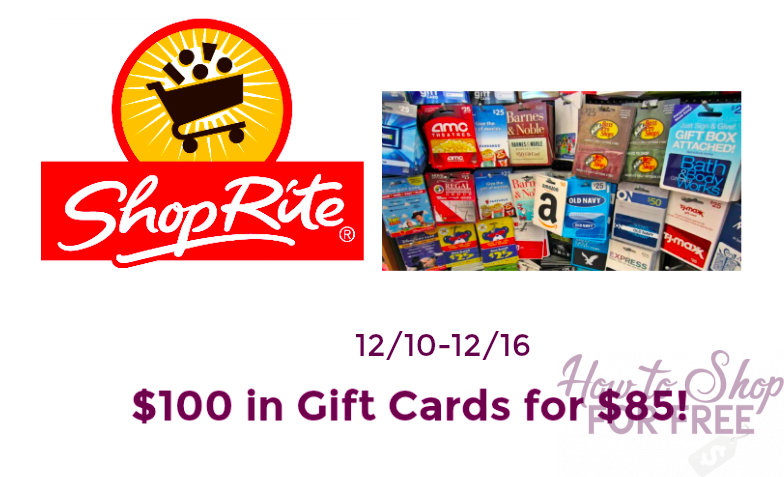 $100 Gift Cards for $85!!!