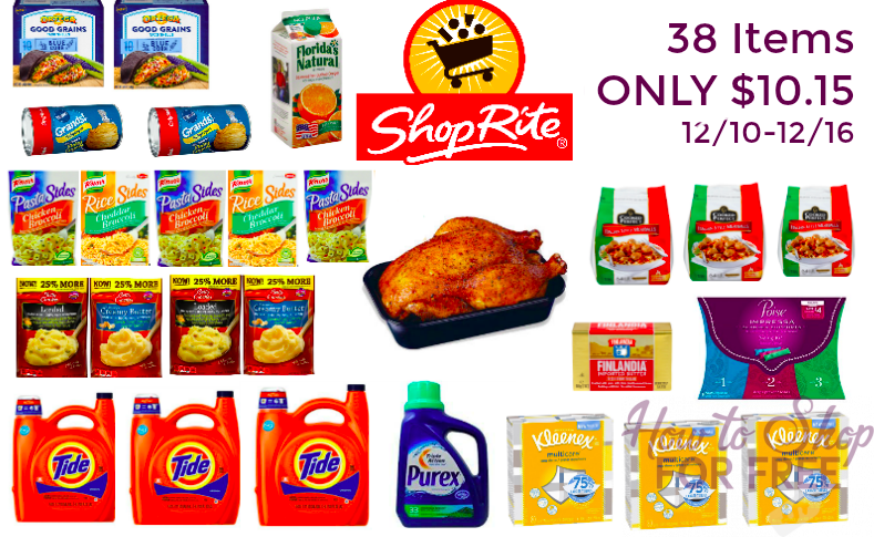 WOW!!! ShopRite Scenario – 38 Items ONLY $10.15, less then $0.02 per item!