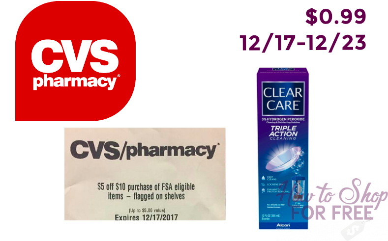 $0.99 Clear Care Triple Action Relief!