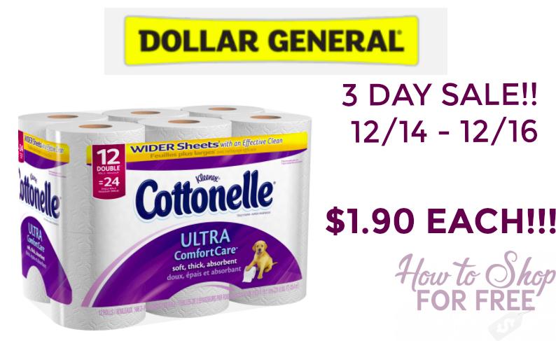 HOT DEAL!! Cottonelle 12pk ONLY $1.90!!!