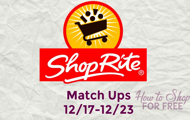 ShopRite Match Ups 12/17-12/23