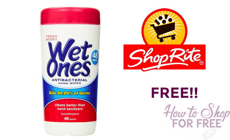 FREE Wet Ones at ShopRite!