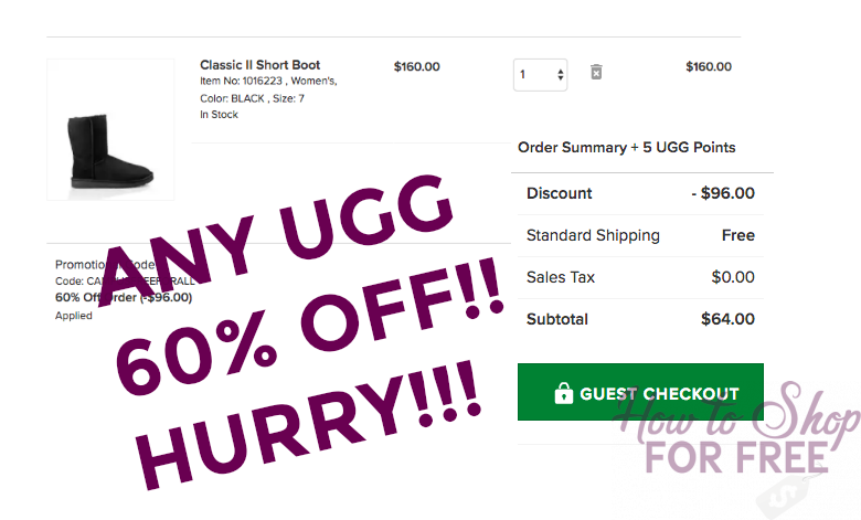 GLITCH! HURRY, 60% ANY UGG Boots with Code !!