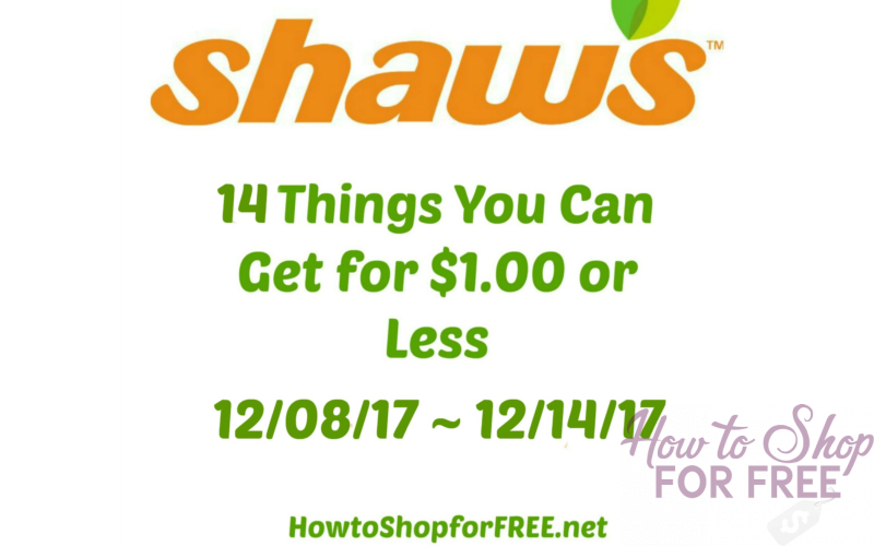 14 Things You Can Get for $1.00 or Less at Shaw's 12/08 ~ 12/14!