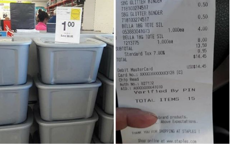 Hurry! 18 Gallon Storage Totes Only $1 at Staples!