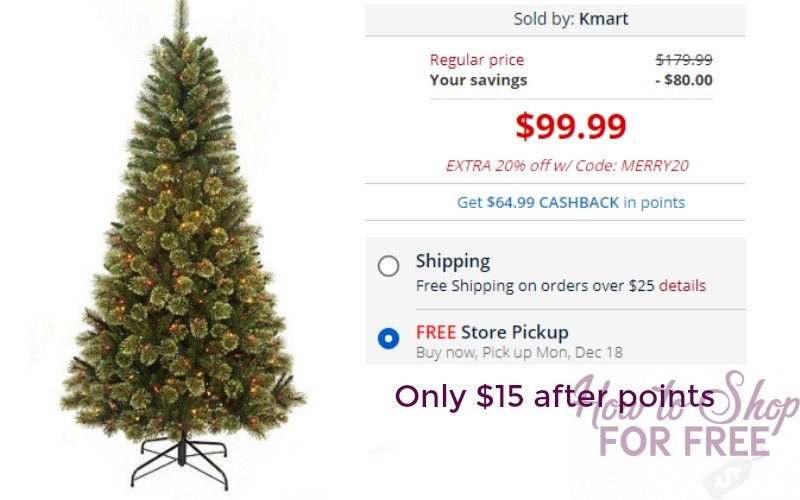 7′ Clearwater Slim Cashmere Tree Only $15 after points at Kmart!