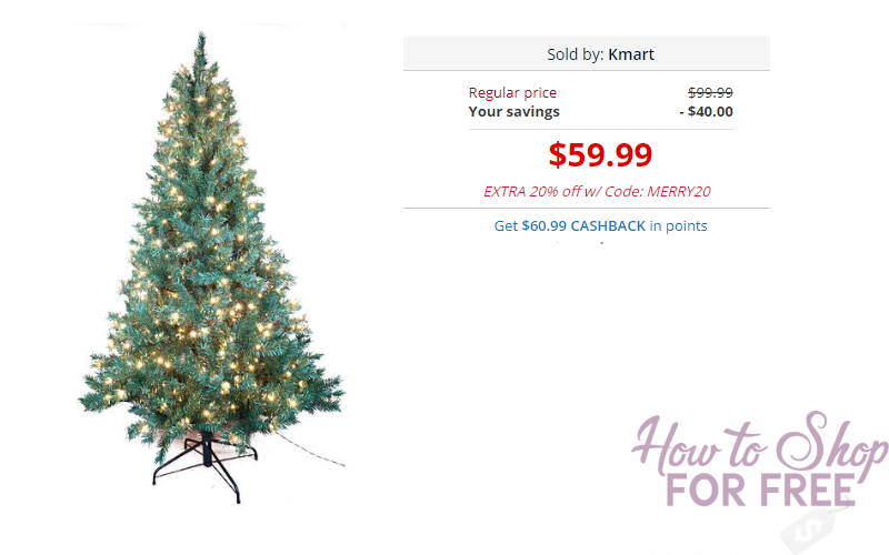 WOW! Better Than FREE Christmas Trees at Kmart!