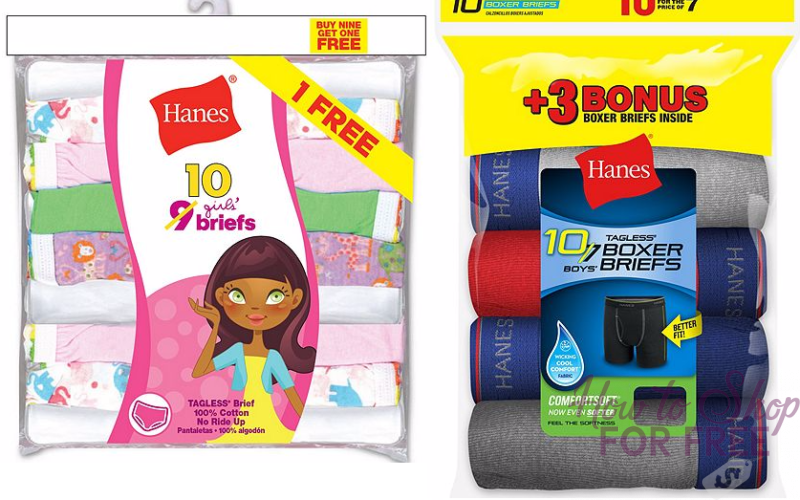 ** HOT BUY ** 20pk Hanes Boys/Girls Underwear ONLY $10.29!