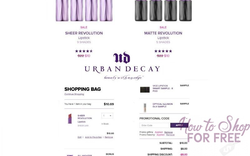Urban Decay Glitch:  $22 Sheer Revolution Lipstick + 3 FREE Deluxe Samples + FREE SHIP FOR JUST $10!