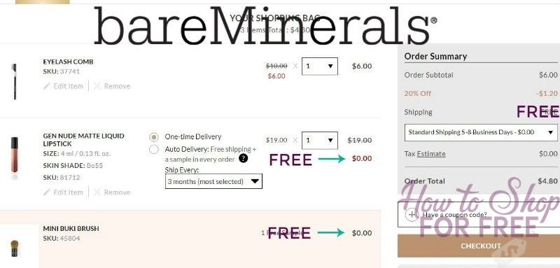RUNN DEAL BareMinerals Pay $4.80 for Matte Liquid Lipstick + Eyelash Comb + Mini Buki Brush + Free Ship!!!