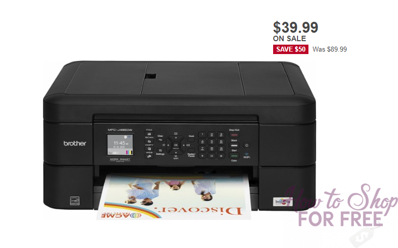 Today Only~ $39.99 Brother Wireless Printer! (Save $50)