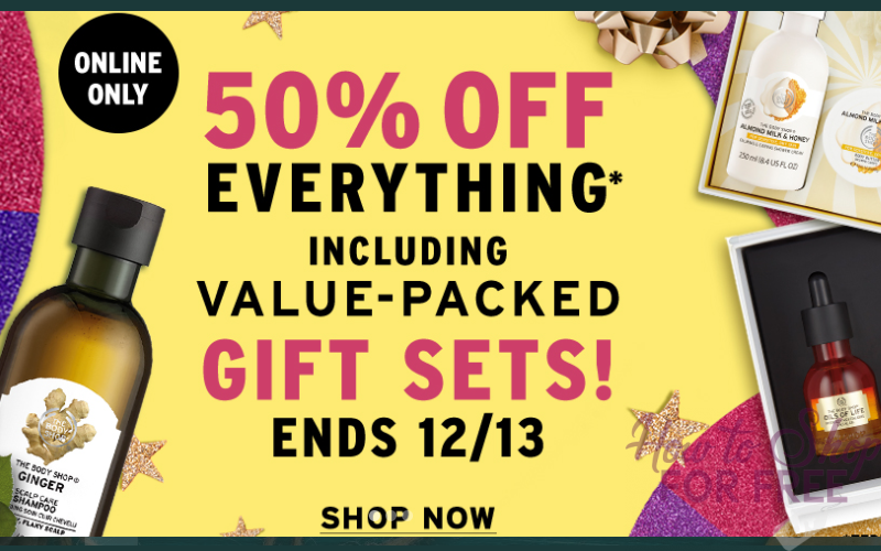 50% off EVERYTHING at The Body Shop! (thru 12/13)