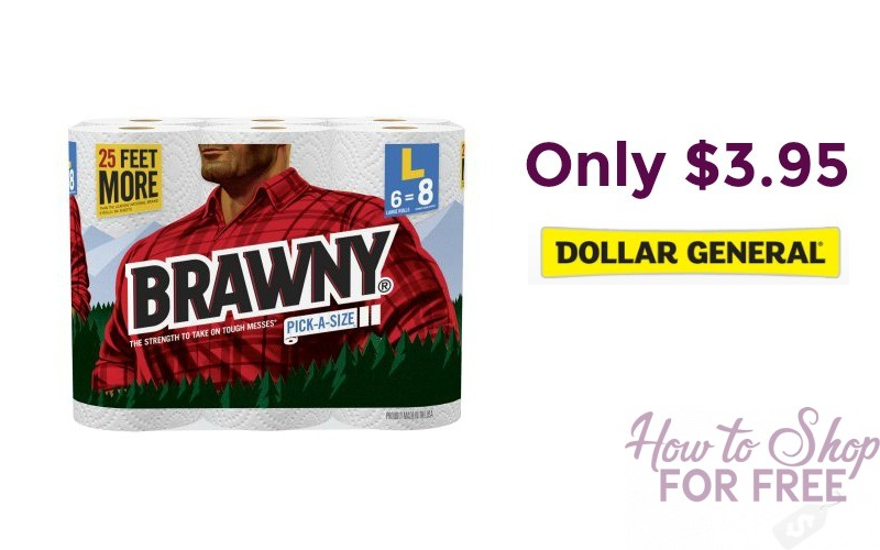 Brawny 6 Roll Paper Towels Only $3.95 at Dollar General