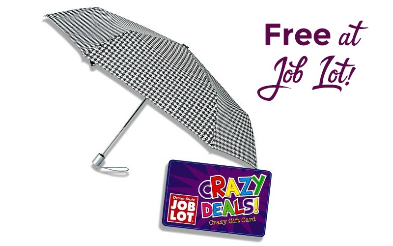 Stay Dry with FREE Umbrellas from Job Lot!