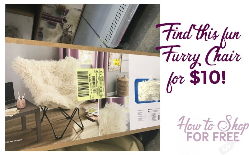 Cute & Fun Furry Chair for $10!!