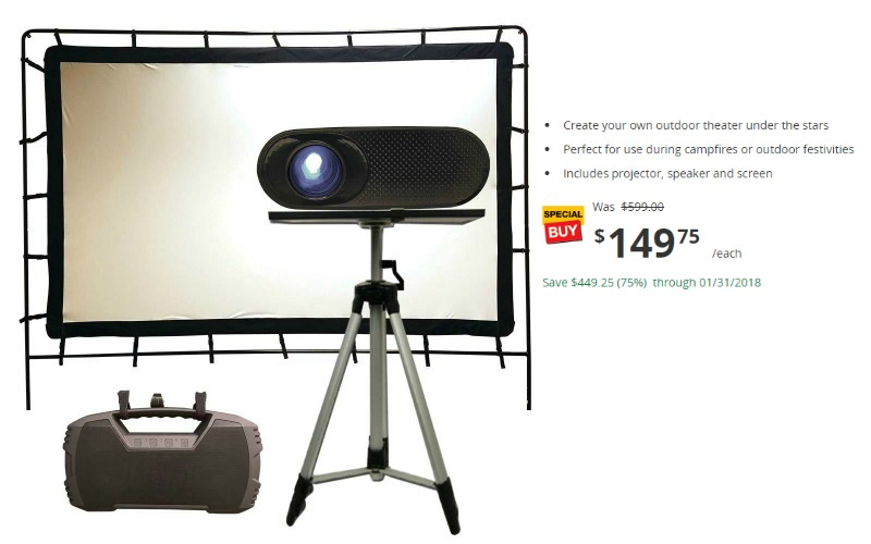 Outdoor Theatre Projection Kit 75% OFF!!! Ships FREE!