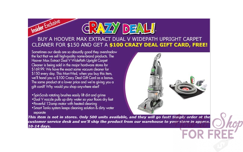 WOWZA~ $50 Hoover Carpet Cleaner!! (thru 12/13 Only)