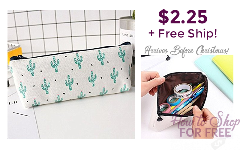 Cute Cactus Clutch $2.25 + FREE Ship! (for Makeup or Pens!)