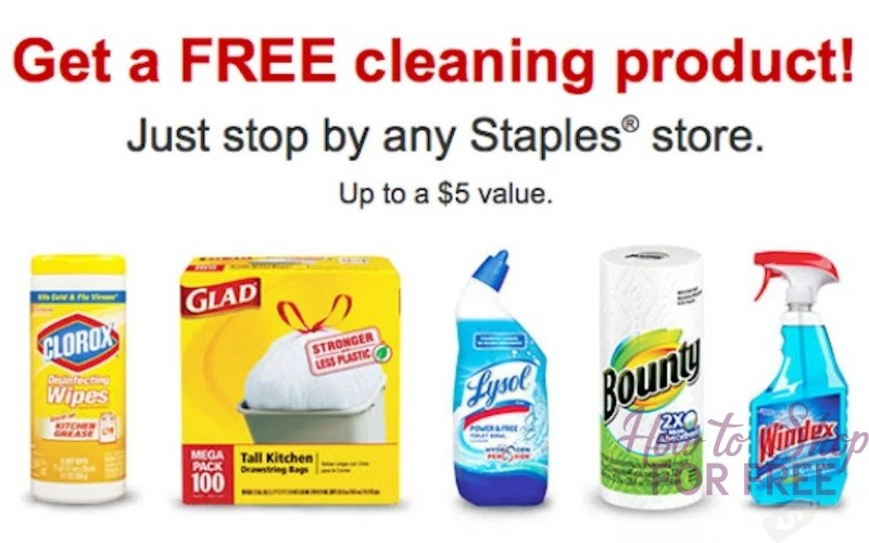 FREE Cleaning Product at Staples!! ($5 Value!)