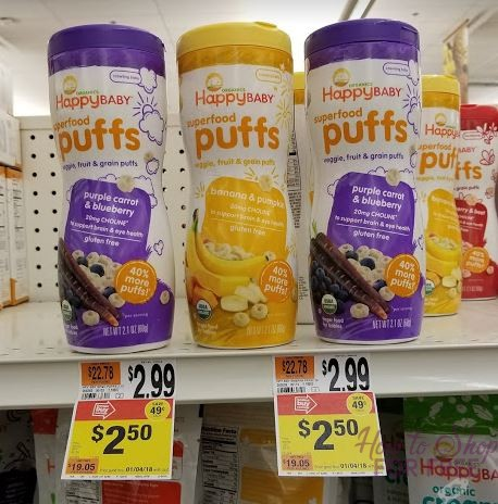 Happy Baby Puffs only $1.00 at Stop & Shop!