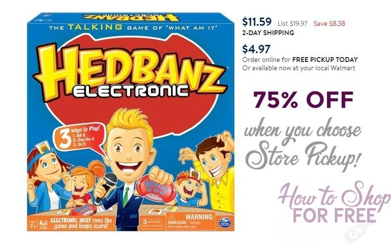 Hedbanz Electronic $4.97 when you do Store Pickup!