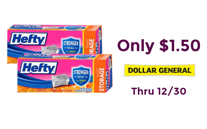 Hefty Slider Bags Only $1.50 at Dollar General