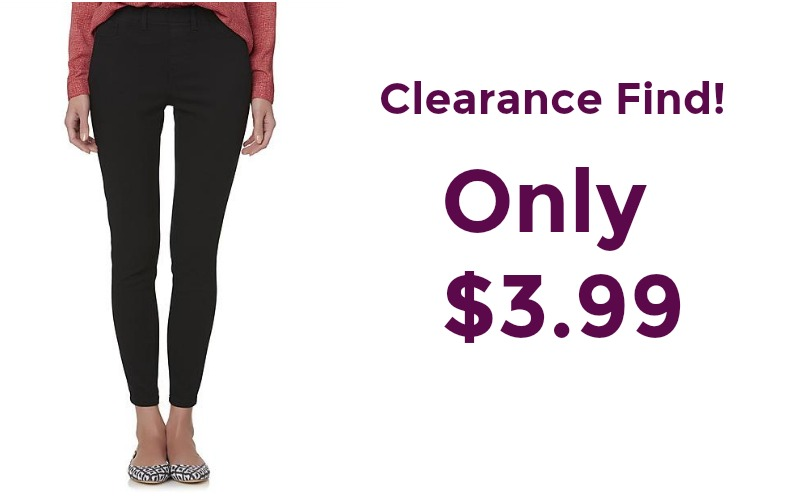 Clearance Find! Simply Styled Women's Jeggings Only $3.99 at Sears!