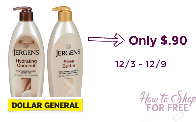 Jergens Lotion Only $.90 at Dollar General