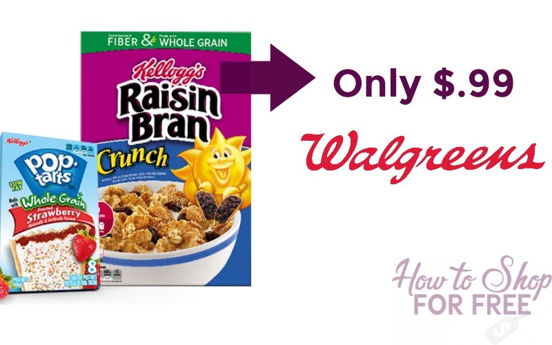 Kellogg's Cereal or Poptarts Only $.99 at Walgreen's