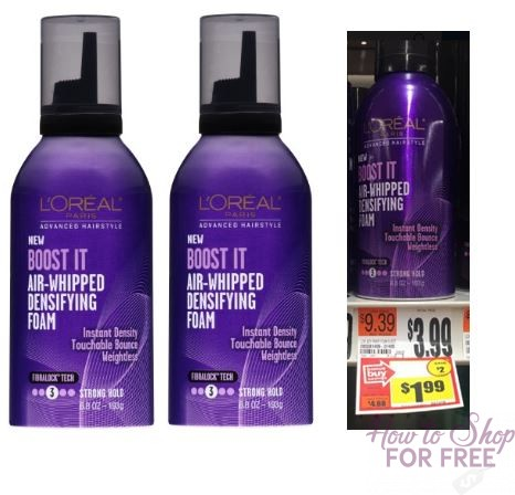 FREE L'Oreal Mousse at Stop & Shop!