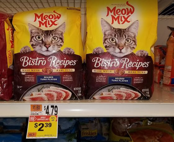 Meow Mix 50% off at Stop & Shop!