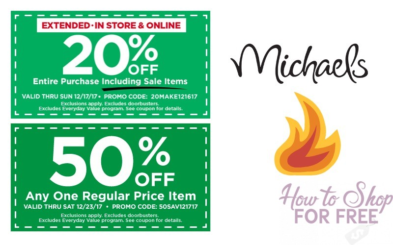 Michael's 50% OFF Coupon + 20% OFF Sale Prices! **LAST CHANCE**