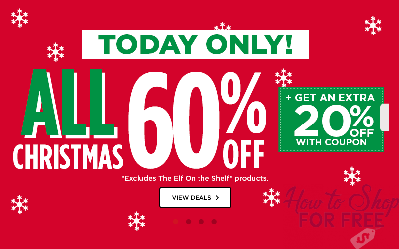 Today Only~ 60% OFF ALL Christmas + Extra 20% OFF!