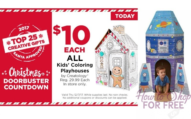 Today Only~ $10 Kids Coloring Playhouses!! (Reg/$30)
