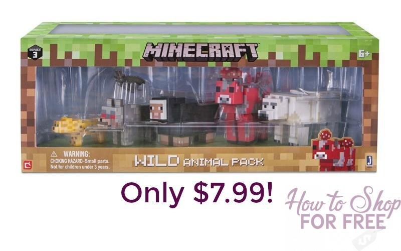 Minecraft Wild Animal Pack Only $7.99!