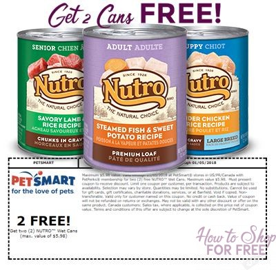 2 Free Cans of NUTRO Wet Food at PetSmart!